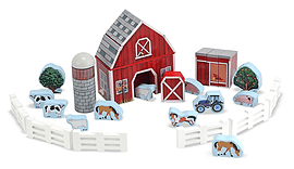 Melissa & Doug Farm Blocks Play Set Pre School Toys