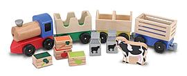 Melissa & Doug Wooden Farm Train Pre School Toys