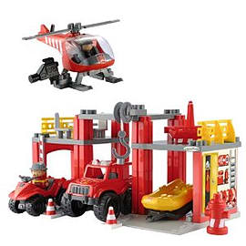 Fire And Rescue Station Playset Figurines and Sets