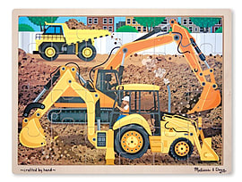 Melissa & Doug Construction Jigsaw (24 Pieces) Traditional Games