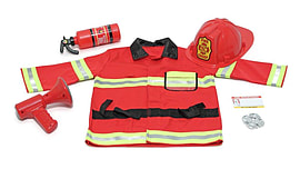 Melissa & Doug Fire Chief Role Play Costume Set (Age 3 to 6) Pre School Toys