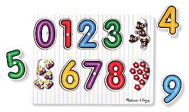 Melissa & Doug See-Inside Numbers Peg Puzzle Pre School Toys
