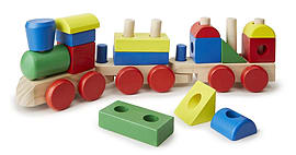 Melissa & Doug Toy Stacking Train Pre School Toys