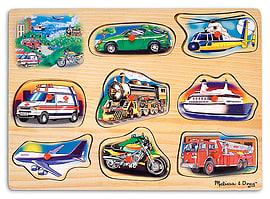 Melissa and Doug Classic Vehicles Sound Puzzle Pre School Toys