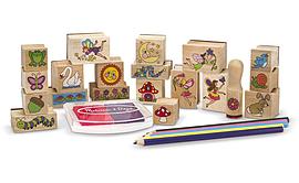 Melissa and Doug Stamp-A-Scene Fairy Garden Pre School Toys