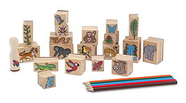 Melissa and Doug Stamp-A-Scene Rain Forest Pre School Toys
