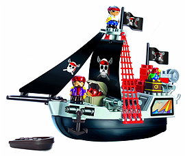 Abrick Pirate Ship Playset Figurines and Sets