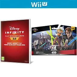 Disney Infinity 3.0 Software Disc and Twilight of the Republic Play Set Bundle Wii U