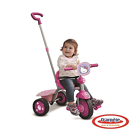Hello Kitty Kids Pedal Tricycle With Push Bar Ohky65 Pre School Toys