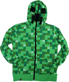 Official Licensed Minecraft Creeper Hoodie - YOUTH sizes (Youth Small (5/6)) Clothing