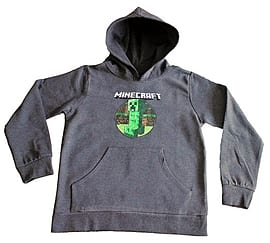 5 to 12 Years Minecraft Long Sleeve Hooded Sweater Hoody Hoodie New (7-8 Years) Clothing