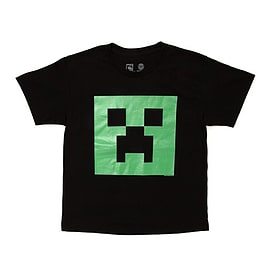 Minecraft Creeper Glow in the Dark Face Youth Tee Clothing