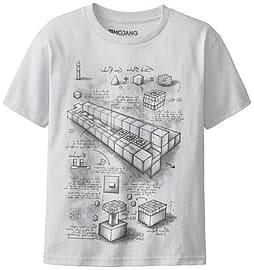 Minecraft Blueprint Grey TNT Launcher Mine Craft Youth T-Shirt Clothing