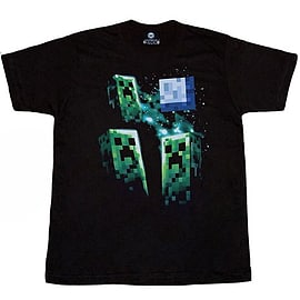 Minecraft T-Shirt - Three Creeper Moon (KIDS SIZES) (X-Large (36 Chest)) Clothing