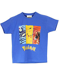 Character Boys Pokemon Short Sleeve T-shirt Age 7 to 8 Years Clothing