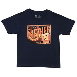 Minecraft T-Shirt - Nether Postcard (Youth) (S (5-6 Years)) Clothing