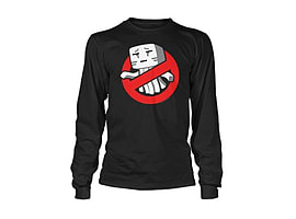 Minecraft T-Shirt - Ghastbusters - (Youth) Long Sleeve (S - 34) Clothing