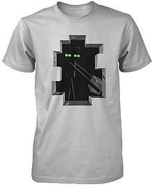 Minecraft Enderman Inside - Premium Youth Mine Craft T T-Shirt Silver Steve Miner(XL) Clothing
