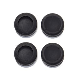 ZedLabz concave thumb grips for Sony PS4 Playstation 4 controller dotted silicone caps -4 pack black PS4