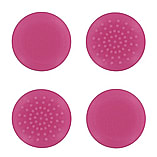 Assecure TPU thumb grips for Xbox One controllers pimpled analog stick cover caps - 4 pack pink screen shot 1