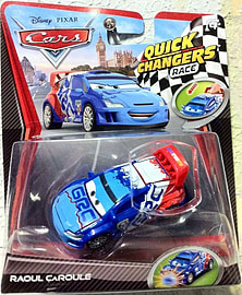 Cars 2 Quick Changers Race: Raoul CaRoule Figurines and Sets