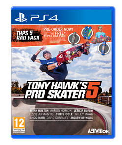 Tony Hawk's Pro Skater 5 with Preorder Rad Pack - Only at GAME PlayStation 4