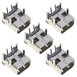 ZedLabz replacement power socket for Nintendo DSi & DSi XL jack connector port repair part - 5 pack NDS