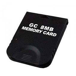 Memory card for Nintendo Wii GC value black 8mb Gamecube