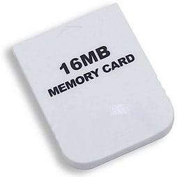 Memory card for Nintendo Wii GC value white 16mb Gamecube