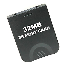 Memory card for Nintendo Wii GC value black 32mb Gamecube