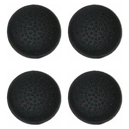 ZedLabz silicone thumbstick grips for PS3 controller convex dotted thumb stick caps - black PS3
