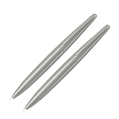 ZedLabz large big xl stylus pen for Nintendo 3DS, 2DS, DSi, DS Lite, DS & Wii U - 2 pack grey 3DS