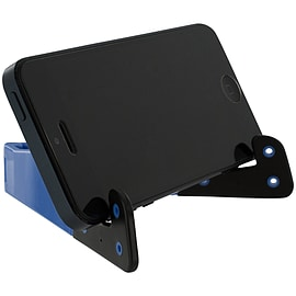 Zedlabz value foldable stand for smart phone & 7 inch tablet slim pocket travel cradle blue & black Mobile phones