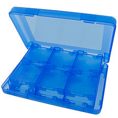 ZedLabz value game case for 3DS XL 2DS DSi DS Lite 24 in 1 box cartridge holder card storage - Blue 3DS