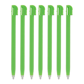 ZedLabz value plastic stylus slot In touch pen for Nintendo DS Lite, DSL, NDSL ? 7 pack green NDS