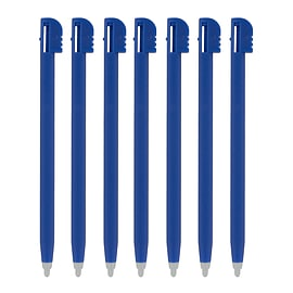 ZedLabz value plastic stylus slot In touch pen for Nintendo DS Lite, DSL, NDSL ? 7 pack blue NDS