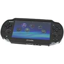 Zedlabz TPU gel semi rigid skin bumper protective case cover grip for Sony PS Vita 1000 - black PS Vita