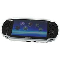Zedlabz TPU gel semi rigid skin bumper protective case cover grip for Sony PS Vita 1000 - clear PS Vita