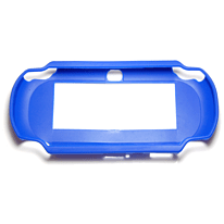 ZedLabz value TPU Rubber Gel Hard Skin Bumper Protective Case Cover For PS Vita 1000 - Blue PS Vita