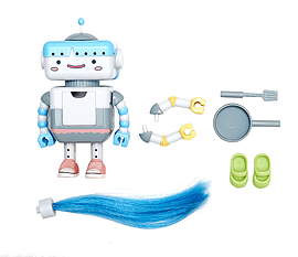 Busy Lizzie Robot Accessories Pre School Toys