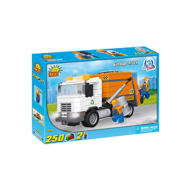 Cobi Action Town 250 Pcs Garbage Truck Figurines and Sets