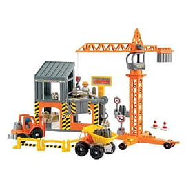Abrick Construction Site Playset Figurines and Sets