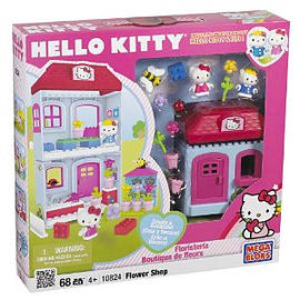 Mega Bloks Hello Kitty Flower Shop Playset Figurines and Sets