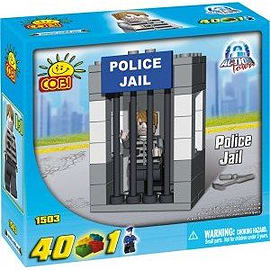 Action Town 40 Pcs Police Jail Figurines and Sets