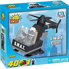 Action Town 40 Pcs S.W.A.T. Copter Figurines and Sets
