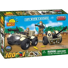 Small Army 100 Pcs ATV with Cannon Figurines and Sets