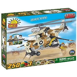 Small Army 250 Pcs Helicopter (Desert Hawk) Figurines and Sets