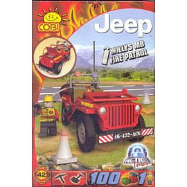 Action Town 100 Pcs Jeep Fire Patrol Figurines and Sets