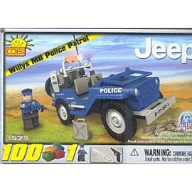 Action Town 100 Pcs Jeep Police Patrol Figurines and Sets