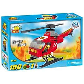 Action Town 100 Pcs Rescue Copter Figurines and Sets